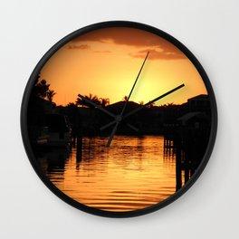 Sunset - Cape Coral, FL Wall Clock