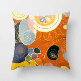 """Hilma af Klint """"The Ten Largest, No. 03, Youth, Group IV"""" Throw Pillow"""