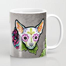 Chihuahua in White - Day of the Dead Sugar Skull Dog Coffee Mug