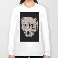 skeleton Long Sleeve T-shirts featuring Skeleton by Hadar Geva