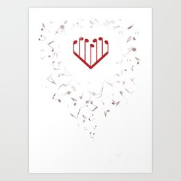 Music Heart Art Print