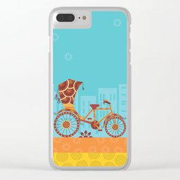 Unique Indian Vehicle - Cycle Rickshaw Clear iPhone Case