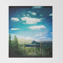 High Uinta Mountains by Shane J Cottle Throw Blanket