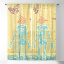 ANOTHER DIMENSION Sheer Curtain