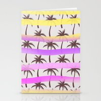 palm trees Stationery Cards featuring Palm Trees by Ornaart