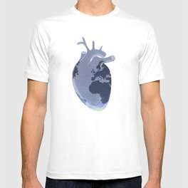 The earth is our heart - EARTH DAY '16 - all artist profits to be donated T-shirt