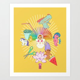 Nurture your inner geek 01 Art Print