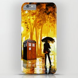 Somebody Looking The Tardis iPhone Case
