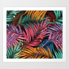 Colorful Palm Leaves Art Print