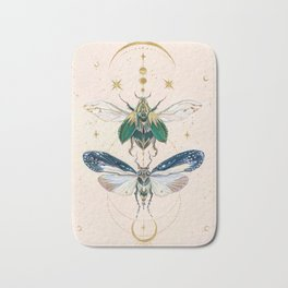 Moon insects Bath Mat