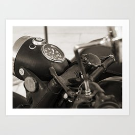 Rock n Roll Motorcycle - Black and white Photography Art Print