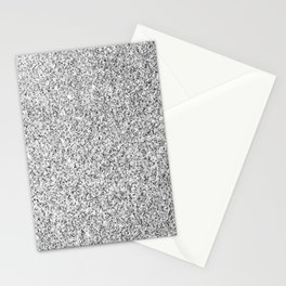 Beautiful Silver glitter sparkles Stationery Cards