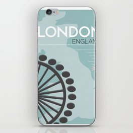 London Poster iPhone Skin