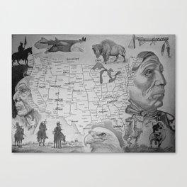 Native America Canvas Print