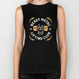 Heavy Metal Lifting Club (Yellow) Biker Tank