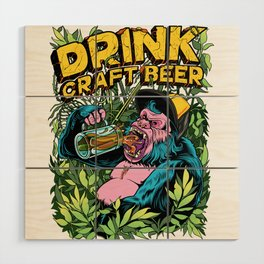 Drink Craft Beer Wood Wall Art