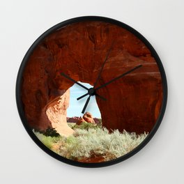 At The End Of The Trail - Pine Tree Arch Wall Clock