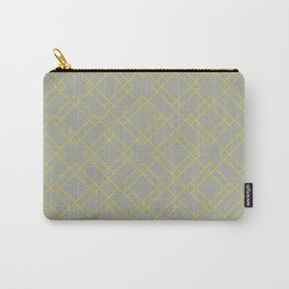 Simply Mod Diamond Mod Yellow on Retro Gray Carry-All Pouch