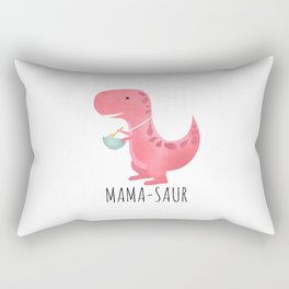 Mama-saur Rectangular Pillow