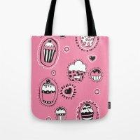 cupcakes Tote Bags featuring Cupcakes! by Duru Eksioglu