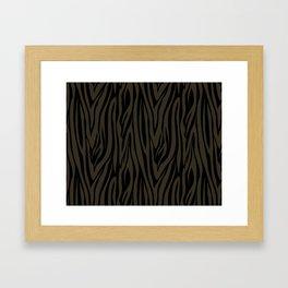 Sophisticated Black and Grey Zebra Print Pattern Framed Art Print
