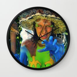Body Painting OWL 2 - Made in Italy Wall Clock