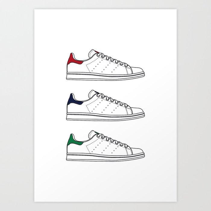 Stan Smith Adidas originals Art Print by benjaminrolland