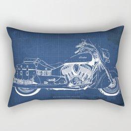 New motorcycle blueprint, 2016 Indian Chief Vintage,gift fro him,blueprint,bike art print Rectangular Pillow