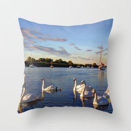The River Crouch Essex Throw Pillow