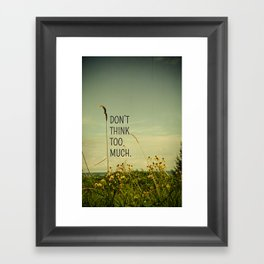 Travel Like A Bird Without a Care Framed Art Print