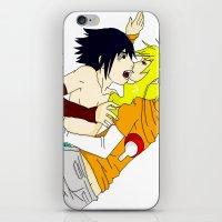 sasuke iPhone & iPod Skins featuring Sasuke y Liara by rosalia