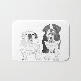 English Bulldog Brothers Bath Mat