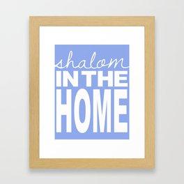 Shalom in the Home, lavender Framed Art Print