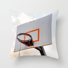 basketball hoop 4 Throw Pillow