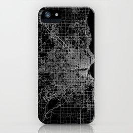 milwaukee map iPhone Case