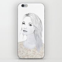 sylvia plath iPhone & iPod Skins featuring Sylvia by Juliette Thornbury