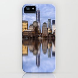Cityscape of Financial District of New York iPhone Case