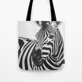 The Thoughtful Zebra Tote Bag