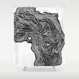 ROOTED (NIGERIA) Shower Curtain