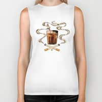 cigarettes Biker Tanks featuring Cigarettes and Chocolate Milk by Brittany W-Smith