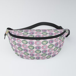 Green and purple dotted watercolor pattern Fanny Pack