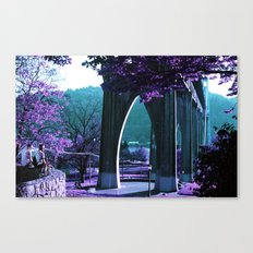Cathedral Bridge in Purple Canvas Print