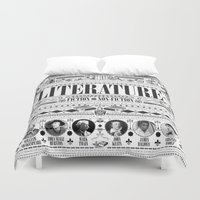 literature Duvet Covers featuring Literature Poster by Ryan Huddle House of H