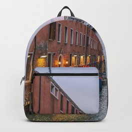Venice Italy Canal Photography, Travel Italy Wall Art, Venetian Canals at Dusk Home Decor Backpack