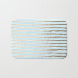 Abstract Stripes Gold Tropical Ocean Sea Turquoise Bath Mat