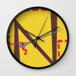 N is for Needle Wall Clock