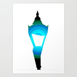 Concentric Lamppost  Art Print