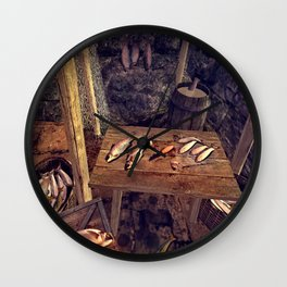 Fish day (day came for the processing of fish) Wall Clock
