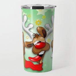 Reindeer Drunk Funny Christmas Character Travel Mug