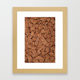 Malted shredded wheat biscuits Framed Art Print